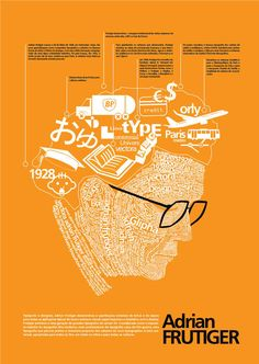 Adrian Frutiger is one of the best known type designers and he's famous for creating some of the most well known and popular type faces. This infographic provides information about Adrian Frutiger and his work.