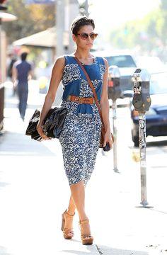 Eva Mendes is a Vintage Shopper... Look at those shoes