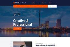 Dustri - Factory & Industrial Website HTML Template Html Website Templates, Innovative Products, Innovation, Industrial, Building, Buildings, Industrial Music, Construction