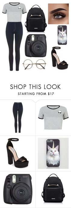 """""""Untitled #105"""" by niih97 ❤ liked on Polyvore featuring Topshop, WithChic, Steve Madden and Fuji"""