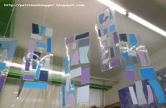 Mòbil d'hivern amb retalls de paper