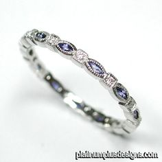 settings band ladies pin diamond bands eternity ring pinterest sapphire