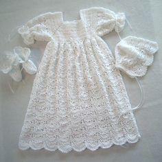 Baby baptism gown - crochet
