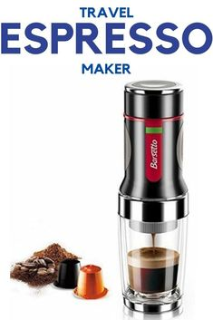 Travel Espresso Makers 2020 – 2021 The best options to enjoy an #espresso on a trip, #camping holiday etc. Top Best Travel Espresso Makers  2020 – 2021 #Wacaco Minipresso - Simoner Portable Espresso Machine – Rechargeable Boils Water Espresso Maker, Espresso Coffee, Espresso Machine, Portable Coffee Maker, Coffee Maker With Grinder, Machine Nespresso, Coffee Ice Cream, Premium Coffee, Coffee Accessories