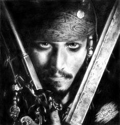 Pencil Drawing - Jack Sparrow - Captain Jack Sparrow Fan Art (10826620) - Fanpop