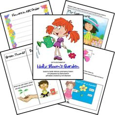 Holly Blooms Garden Unit Study Lessons Lapbook Printables FREE