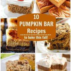 Food Photography: 10 Pumpkin Bar Recipes (Round-Up) Best Picture For Kerala food recipes For Your Ta Pumpkin Bars, Pumpkin Cheesecake, Pumpkin Pumpkin, Pumpkin Recipes, White Chocolate Raspberry, White Chocolate Chips, No Bake Pies, No Bake Cake, Sweet Cream Pie
