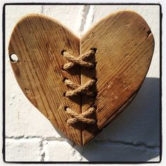 Driftwood Twine Heart Wall Hanging by driftingtides on Etsy, £12.00