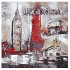 Ren Wil Memories of London Canvas Art ($86) ❤ liked on Polyvore featuring home, home decor, wall art, backgrounds, pictures, decor, canvas picture, textured wall art, canvas home decor and london wall art