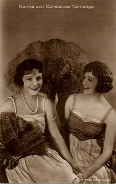 Norma and Constance Talmadge Hollywood Photo, Old Hollywood Glamour, Classic Hollywood, Norma Talmadge, Silent Film, Classic Films, Film Stills, Old Movies, American Actress