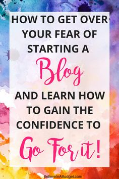 It can be intimidating deciding to start a blog. Trust me, I've been there. I'm sharing how I almost let my lack of confidence prevent from wanting to start a blog. I'm so glad I decided to start a blog. In less than year, I was able to quit my full time job and blog and earn a full time income. Here are 5 ways your fear is holding you back and 8 tips on how to gain the confidence to start a blog and go for it!