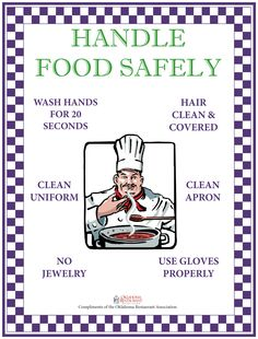 Food Safety Posters - Oklahoma Restaurant Association