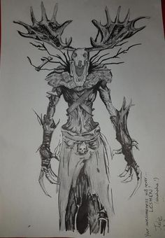 Friend did this awesome drawing of a Leshen from The Witcher 3 Demon Drawings, Creepy Drawings, Dark Art Drawings, Cool Drawings, Witcher Art, The Witcher, Arte Horror, Horror Art, Witcher Tattoo