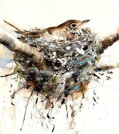 """""""Song thrush"""" by artist Lucy Newton"""