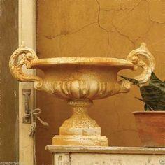 Emen Garden Urn Planter Orlandi Statuary Made of Fiberstone- Pompeii Finish #OrlandiStatuary