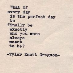 .@Tyler Knott Gregson | Typewriter Series