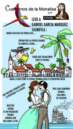 Caricatura sobre la obra de #Gabo, por @raymacaricatura para la revista digital @Prodavinci.
