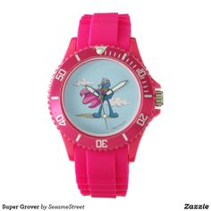 Shop Super Grover Wrist Watch created by SesameStreet. Drawing Sketches, Drawings, Presents For Kids, Cool Gifts, Stationary, Bracelet Watch, Quartz, Watches, Crystals