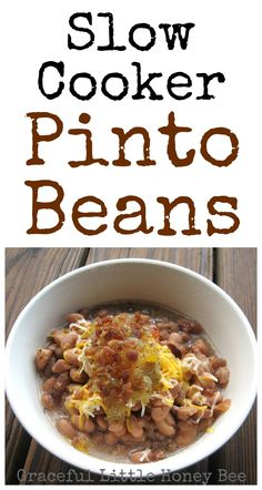 These slow cooker pinto beans turn out perfectly every time.