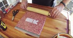 Flatten ground sausage inside a freezer bag. The resulting treat is outstanding Bacon Weave, Bacon Roll, Smoker Recipes, Pork Recipes, Cooking Recipes, Traeger Recipes, Sausage Recipes, Grilling Recipes, Thick Cut Bacon