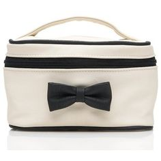 White Colour PVC Cosmetic Bag with Bowtie Makeup Train Case, Cosmetic Bag, Bows, Cosmetics, Colour, Google Search, Black, Arches, Color
