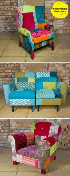 Patchwork chairs!!! - OMG!!! I love these.
