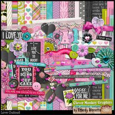 Love Outloud by Clever Monkey Graphics - Digital scrapbooking kits available through Oscraps, GingerScraps, or MyMemories