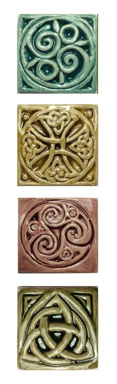"""Earthenware 2"""" accent 'wee' tile collection."""