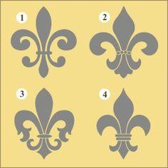 New Orleans Fleur de Lis Decal   Vinyl Stencil-fleur de lis, decal, sticker, stencil, decorating, paris, french, ny_mce/themes/advanced/langs/en.js>, nursery