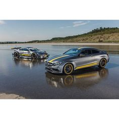 The newest addition to the starting line: the Mercedes-AMG C 63 Coupé Edition 1…