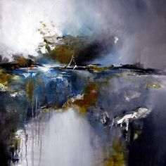 Buy Focal Point, a Oil on Canvas by Alison Johnson from United Kingdom. It portrays: Landscape, relevant to: blue, oil painting, alison johnson, grey white, atmospheric landscape, original art Oil on canvas an origianl oil painting inspired by expression , emotion and the rawness of landscape.