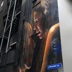 """The city as a canvas #melbourne"""