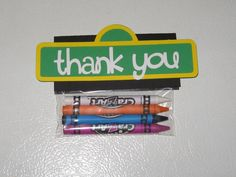Sesame Street Crayon Party Favors / Goody Bags by thepapercubby