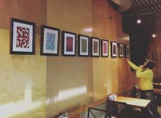 My dad always hangs my work with me, and I'm so grateful. . @groundsforcelebration ☕️ Open House  6.6.19 . #celebratetheday . #thanksjan #groundsforcelebration #mariahjadeart #coffee #grounds #openhouse #mariahjade #artshow #coffeehouse #firstthursday #event #beaverdale #iowa #framing #art #original #artwork #artandcoffee #frames #local #artforsale #reception #locallove #DSMUSA #desmoines #coffeeshop #eucalyptus #leaves #color Eucalyptus Leaves, Coffeehouse, Open House, Iowa, Coffee Shop, Grateful, Original Artwork, Jade, Frames