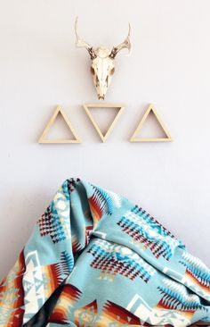 Modern Southwest #home #decor #tribal #deer #antlers #vintage