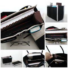 Organizador de mala e capa de livro Ref. Basic Preto/Bege.