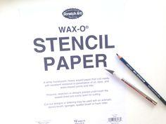 How To Make Stencils, Scratch Art, Cut Out Design, Wax Paper, Storage Ideas, Art Supplies, Craft Ideas, Stamp, Tools