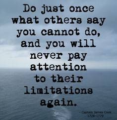Overcome the limitations of others
