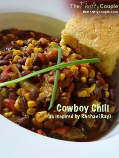Rachel Ray Cowboy Chili (Our Answer for a 30-Minute Yummy Meal With Our Leftover Meats and Veggies)