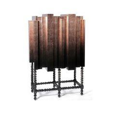 Portuguese design # Mahogany and Copper Leaf, D. Manuel Bar Cabinet from Boca do Lobo. Luxury Furniture, Home Furniture, Furniture Design, Modern Furniture, Furniture Upholstery, Metal Furniture, Pantone, Rooms Ideas, Muebles Art Deco