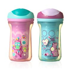 Charlotte LOVES these cups! I think they're made for older infants, but she seems to do just fine with them :)