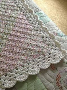 Ravelry: Corner Start Baby Afghan. Easy to do, my go to pattern for a quick baby blanket. Free crochet pattern by Lauri Bolland, with notes on this particular project. by sheila.moose