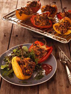 Weber Barbecue, Camping Bbq, Menu, Tacos, Ethnic Recipes, Dutch, Food, Quinoa Stuffed Peppers, Vegetable Stock