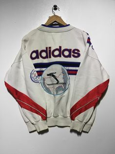 Adidas Winter Olympics sweatshirt size medium £110 Website➡️ www.retroreflex.uk #addias #vintage #oldschool #sweatshirt