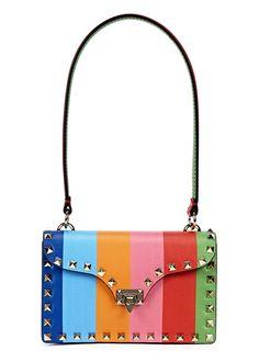 Valentino multicoloured leather shoulder bag