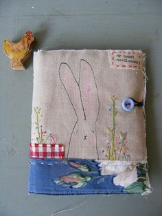 bunny screen printed needlecase by viv at hensteeth.   I love everything she makes!