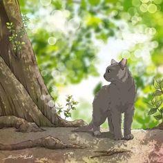 Cute Animal Drawings, Manga, Warrior Cats, Anime Scenery, Cat Drawing, Creature Design, Art Plastique, Aesthetic Art, Crazy Cats