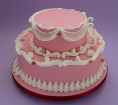 Ceri DD Griffiths - Piping - Multi- Techniques, Pretty in Pink Cake. November 1st and 2nd