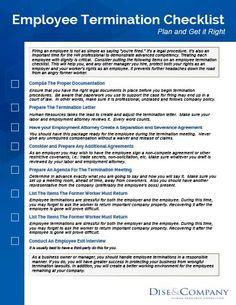Employee Termination Checklist #HR