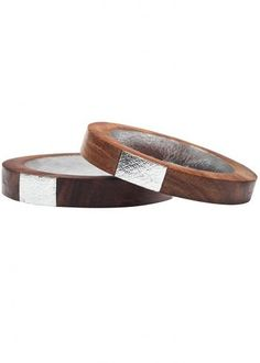 Thread and Harvest Neha-Metallic-Thin-Wood-Bangles-Silver-Feature